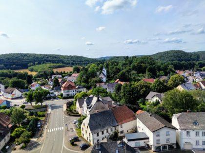 Blick vom Turm der Burg auf Nohfelden
