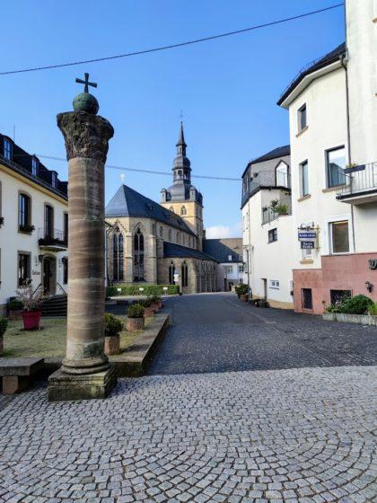 Start bei St. Mauritius in Tholey, der ältesten Abtei Deutschlands