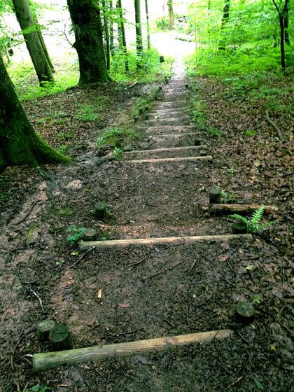Ich folge  mal diesem Wanderweg, mal jenem