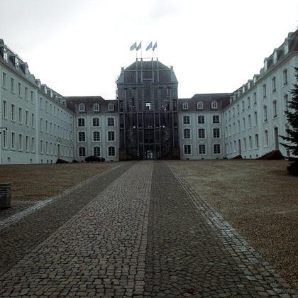 Das Saarbrücker Schloss, das sich im Laufe der Jahrhunderte natürlich völlig verändert hat