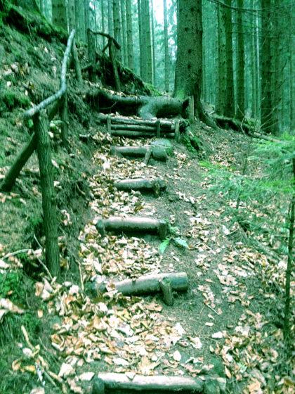 Optsich skurrile Treppen