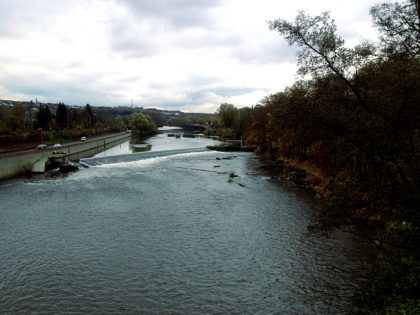 Mitten auf der Brücke