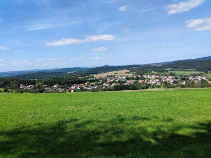 Blick auf Leitersweiler, einen Stadtteil von St. Wendel
