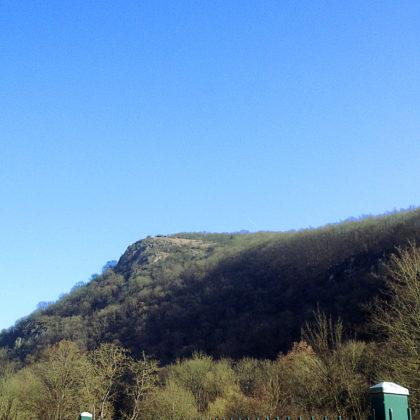 Ich stapfe erst einmal ca. 4 Kilometer vom Bahnhof Kirn zum Start des Wildgrafenweges