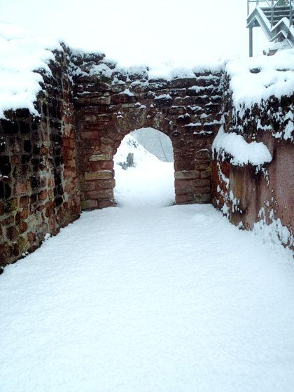 Der Schnee schafft eine ganz eigene Atmosphäre