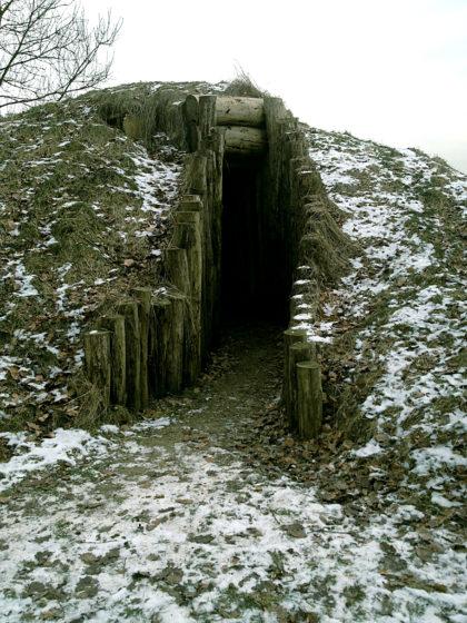 Ein ausgegrabenes Keltendorf mit Versammlungsraum