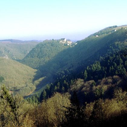 Märchenhafter Blick auf Schloss Dhaun