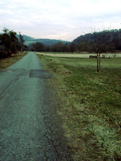 Hinter Hemmersdorf in Richtung Siersburg