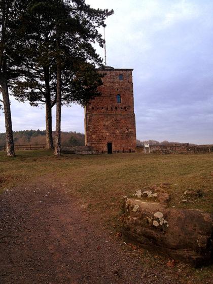 Die Burganlage innen