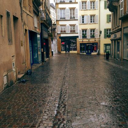 Regenöde Straßen