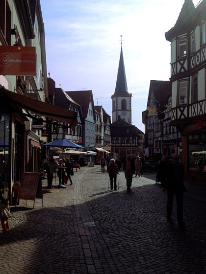 Lohr, Altstadt mit Bayersturm