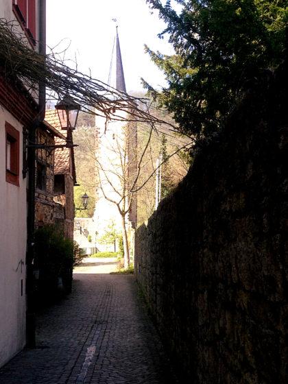 Karlstadt, schmale Gasse