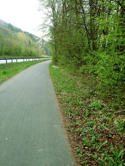 Kurz hinter der Staustufe Steinbach
