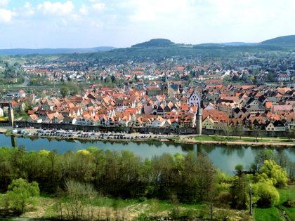 Blick von der Karlsburg auf Karlstadt
