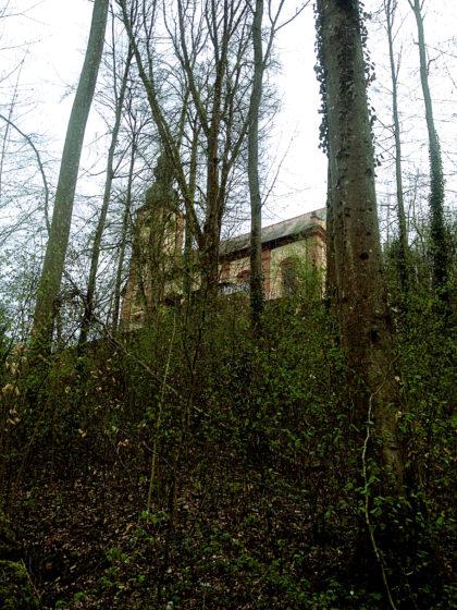 Treppe hinauf zur Kapelle Mariabuchen