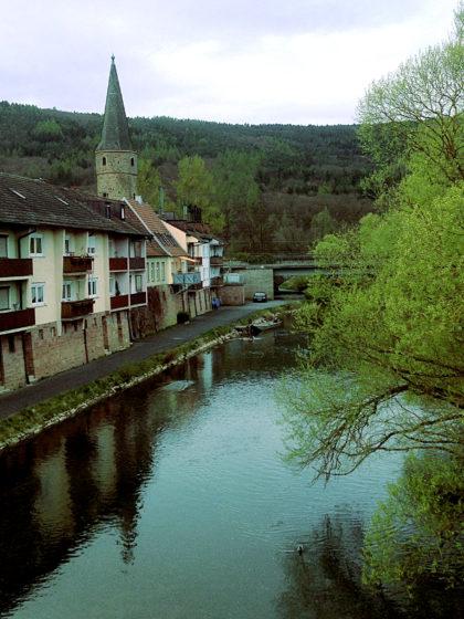 Brücke in Gemünden über die Fränkische Saale