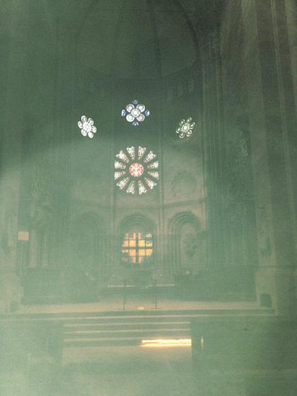Buntglasfenster im Dom; die ursprünglichen Fenster existieren allerdings nicht mehr