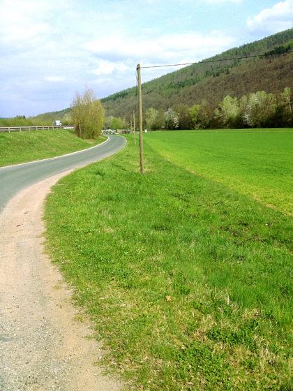 Nähe Neuendorf. Noch 12 Kilometer.