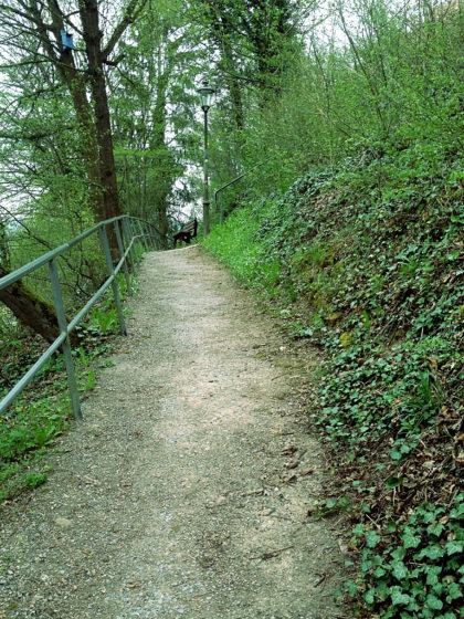 Anstieg zur Scherenburg