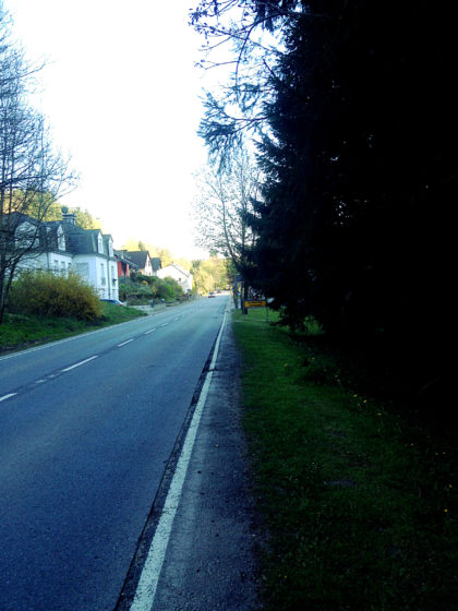 Die letzten Meter nach Blumenthal