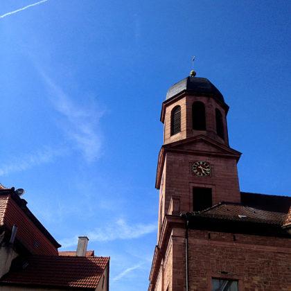 Turm der Pfarrkirche in Rieneck