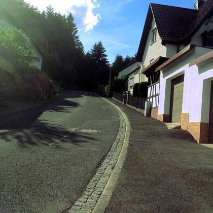 Die letzten Häuser von Rieneck