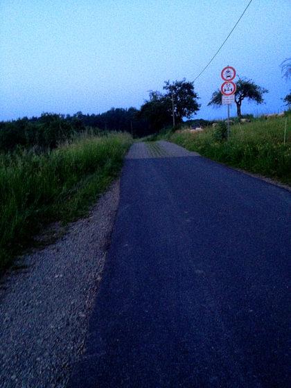 Radweg Richtung Niedersteinbach