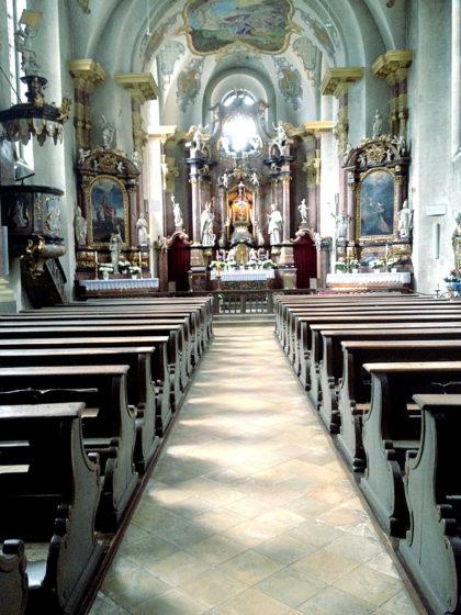 Die Sandkirche innen