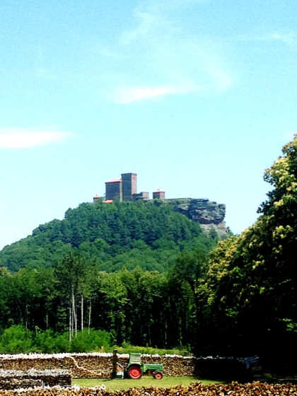 Burg Trifels aus der Ferne
