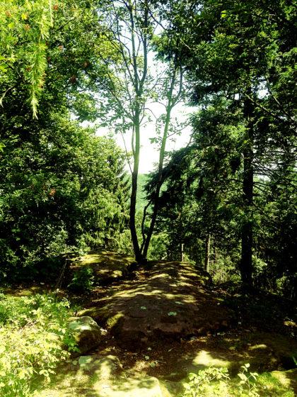 Felsenplattform am Fuße des Rehbergturms