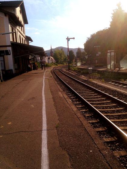 Und wieder einmal ist ein Bahnhof der Endpunkt einer Wanderung