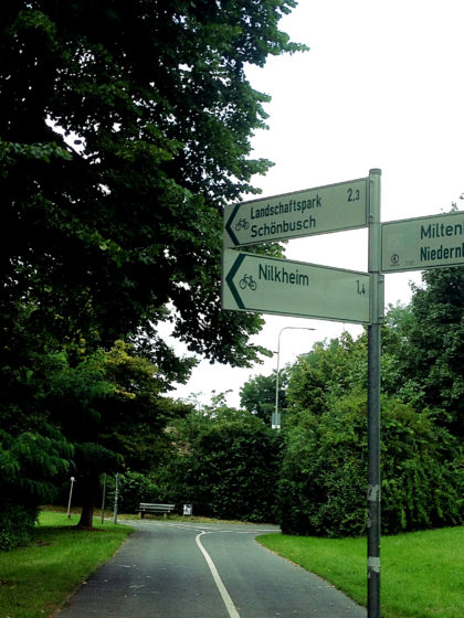 Jetzt auf möglichst direktem Wege Richtung Schönbusch