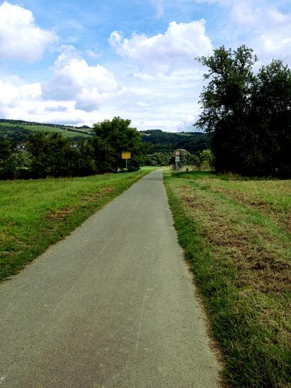 ...auf den Nahe-Radweg