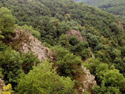 """Eine von mehreren Felsformationen des """"Felsengartens"""""""