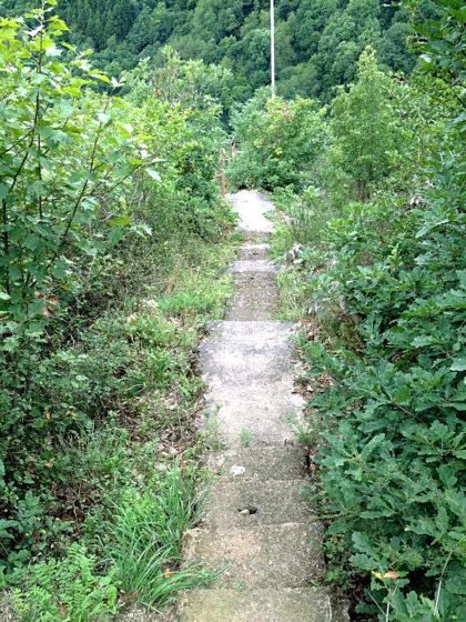 Treppe zu einer der Aussichtskanzeln