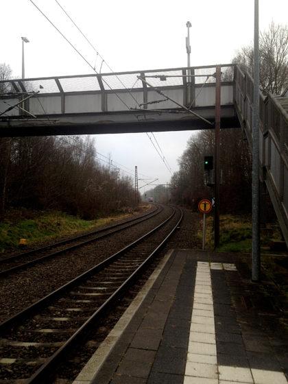 Ich starte die Tour am Bahnhof in Fischbach-Camphausen
