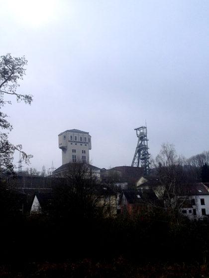 Der Förderturm der ehemaligen Grube Camphausen