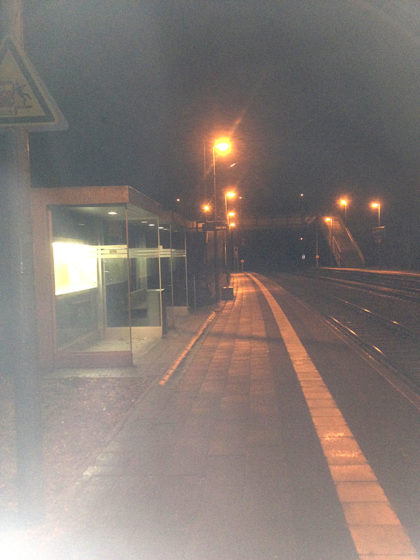 Geschafft! Bahnhof Fischbach-Camphausen