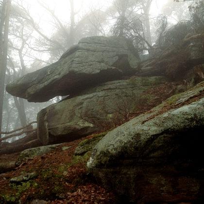 Die ersten Felsen tauchen auf