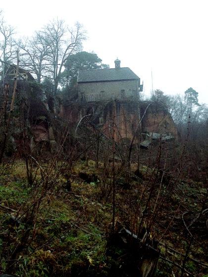 Die Cyriakuskapelle von unten