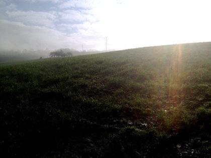 Die ersten Schritte der Wanderung - ganz nettes Vormittagsleuchten