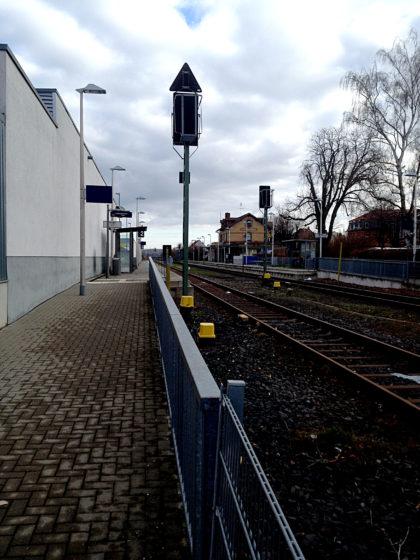Ich starte am Bahnhof in Michelstadt
