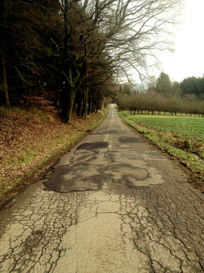 Kurz vor Winterbach, wo die 5-Weiher-Tour beginnt