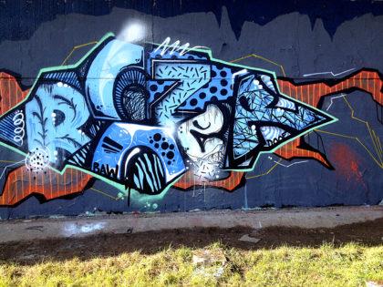 An den Mauern Graffitis