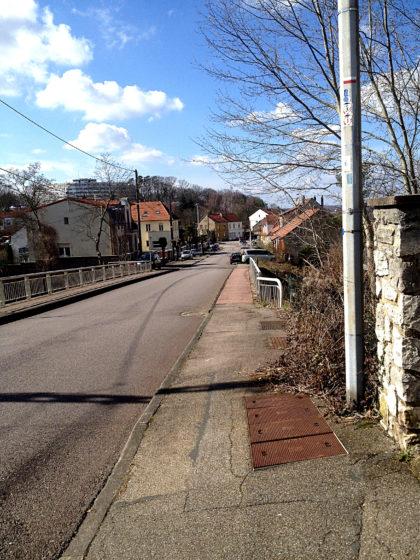 Ich stapfe durch die Straßen von Forbach