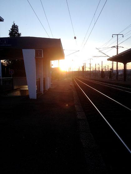 Der Abschluss, ich habe den Bahnhof von Béning erreicht