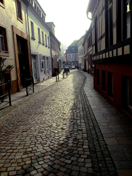 Kopfsteinpflastergassen in der Innenstadt von Blieskastel