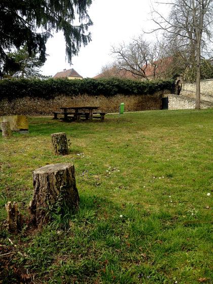 Der kleine Park neben der Basilika