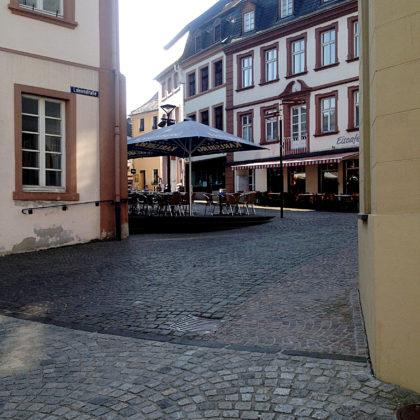 In der Fußgängerzone von St. Wendel