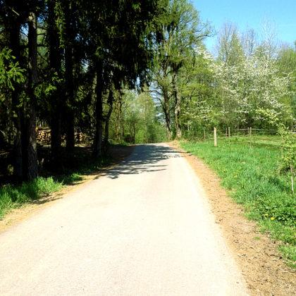 Der Weg ist meistens schön flach